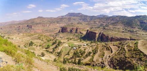 African landscape. Ethiopia, Tigray Region