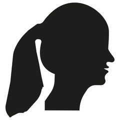 Vector image of girl profile.