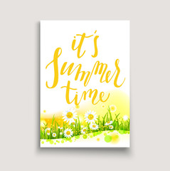 Floral card template card