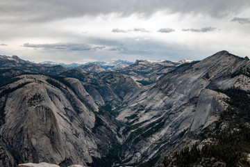View from Half Dome in Yosemite National Park, California