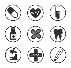 medical and healthcare icons vector illustration graphic design
