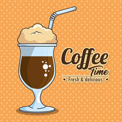 frappe and cold drink coffee vector illustration graphic design