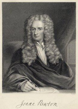 Sir Isaac Newton  English mathematician. Date: 1680s