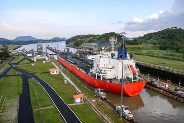 Panama Canal outside Panama City, Central America