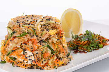 rice with spices and vegetables
