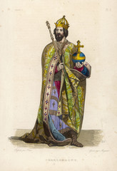 Charlemagne  King and Emperor. Date: 742 - 814