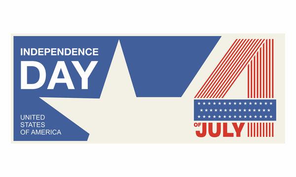 independence day USA original design greeting card