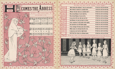 Here comes the abbess  rhyme and music. Date: 1886