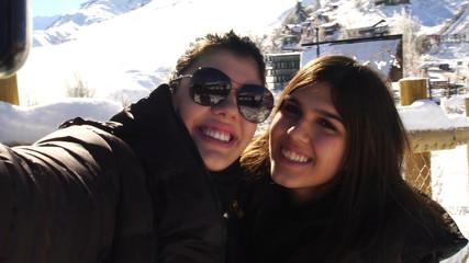 Selfie of Sister in Ski Season