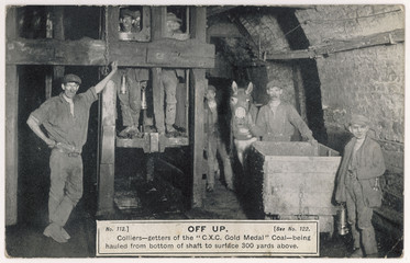 Clay Cross Miners - Shaft. Date: circa 1910