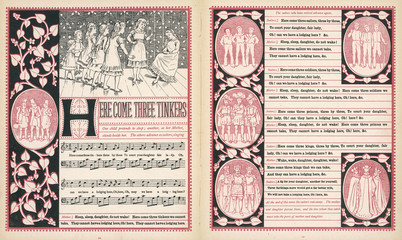 Here come three tinkers  words and music. Date: 1886