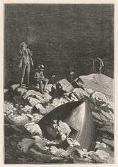 Verne: Illustration from Round the Moon(Autour de la Lune). Date: 1870