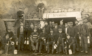 N American Miners. Date: circa 1900