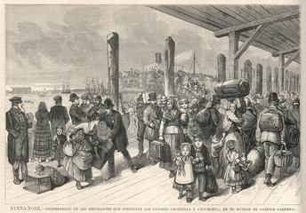 Travel - Emigration - USA. Date: 1878
