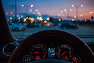 Dashboard of a car.