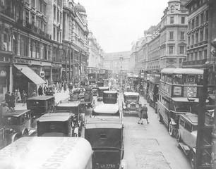 Regent St Congested. Date: 1930