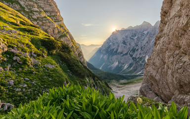 Early morning in the mountains, Bovski, Slovenia.
