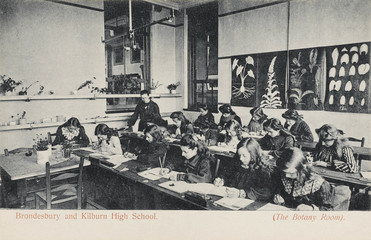 Botany Room  Brondesbury and Kilburn High School. Date: circa 1910