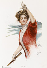 Golf - American Girl. Date: 1909