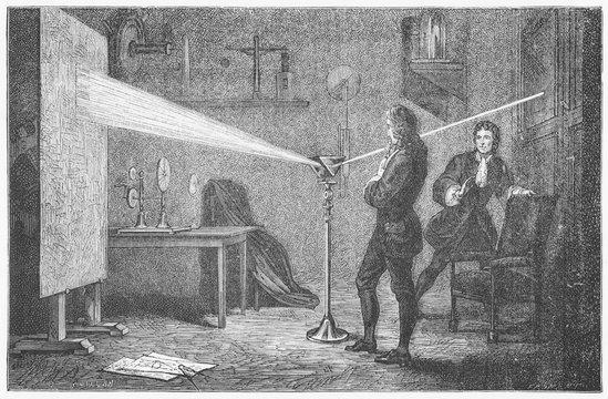 Newton - Decomposes Light