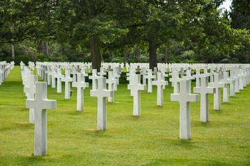 Cementerio de los Estados Unidos en Normandía, Francia, Segunda Guerra Mundial