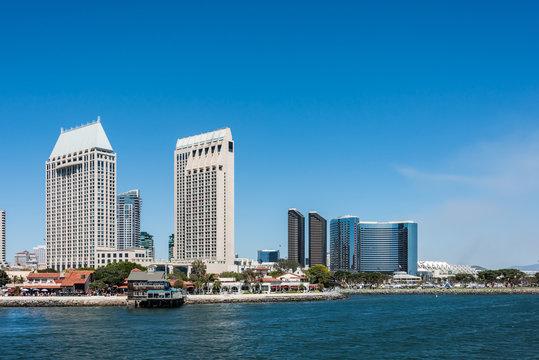 San Diego Skyline and Seaport Village