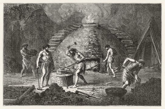 Iron Age Metalwork. Date: circa 1000 BC