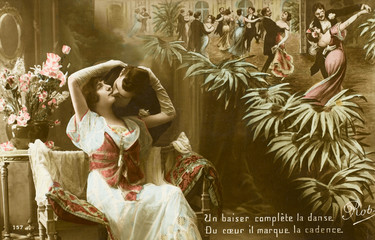 Kissing at a Dance - 1916. Date: 1916
