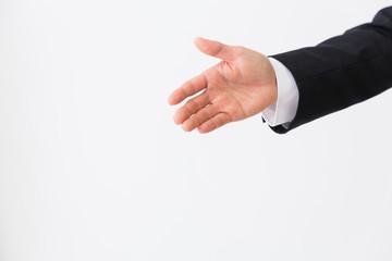 男性 握手 ビジネス 手元