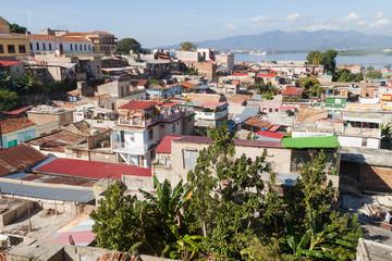 Aerial view of Santiago de Cuba, Cuba