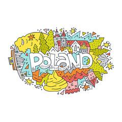 Poland symbols vector illustration
