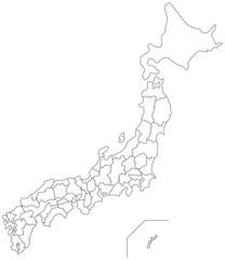 日本の白地図