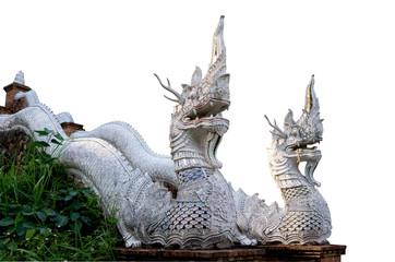 Naga statue stairs