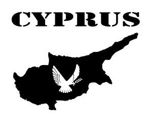 Symbol of Cyprus and map