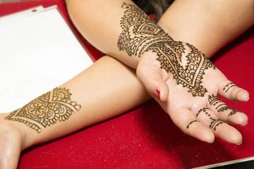 Bridal Henna Arms Crossed