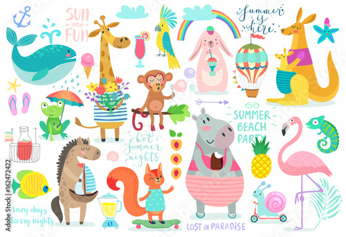 Wall mural Animals hand drawn style,