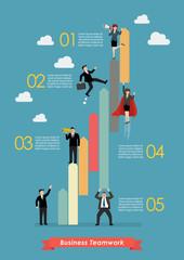 Business teamwork concept infographic
