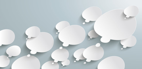 Bevel Thought Bubbles Header Infographic