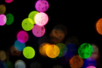 Bokeh Glitter Circles with Rusting Background