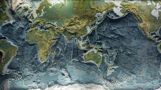 World relief 3d model