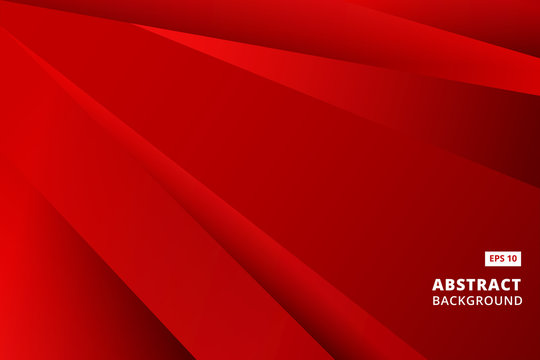 Abstract striped graphic red and black color background vector