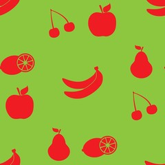 Fruits seamless pattern icon background. Background for textile printing and wrapping paper. Vector illustration.
