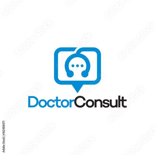 modern doctor app logo doctor consult logo template designs stock