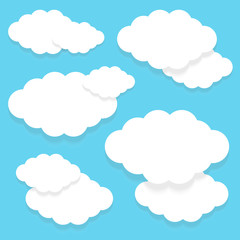 Image of white clouds on a blue background