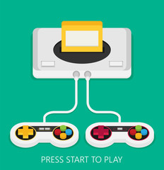 Flat design vector illustration concept of game environment, tools and essentials.