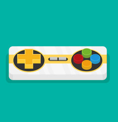Joystick. Flat vector isolated on color background