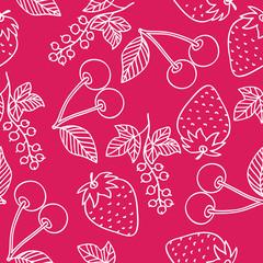 Juicy berries seamless pattern