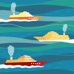 Ships on waves