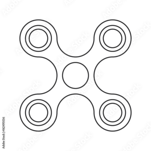 fidget spinner with four arms toy for stress relief and