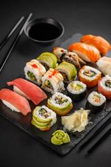 Poster Sushi bar Sushi and Sashimi rolls